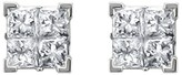 1/4 CT.T.W. Princess-cut Composite Set Diamond Screw Back Stud Earrings in 14K White Gold (IJ, I2)