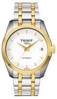 Tissot Ladies Couturier Automatic Two Tone White Trend Watch