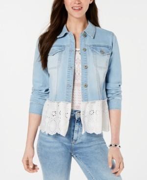 Style&Co. Style & Co Peplum-Hem Denim Jacket, Created for Macy's