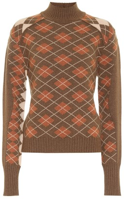 Chloé Argyle-check wool-blend sweater