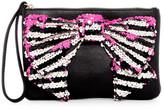 Betsey Johnson Fancy Bow Faux Leather Wristlet