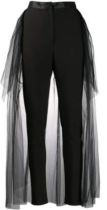 Loulou tulle overlay trousers