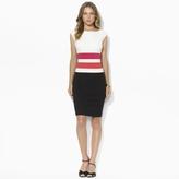 Ralph Lauren Boatneck Color-Blocked Dress