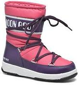 Moon Boot Kids's WE Sport Jr Lace-up Boots in Pink