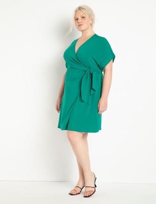 ELOQUII Mini Wrap Dress