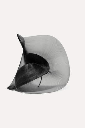 Philip Treacy Tulle Sinamay Straw And Mesh Hat - Black