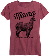 Instant Message Women's Women's Tee Shirts HEATHER - Heather Wine 'Mama Llama' Relaxed-Fit Tee - Women