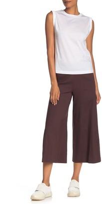 Vince High Rise Linen Blend Culotte Pants