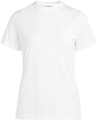 Y-3 Y3 White T-shirt Made Of Cotton With Front Logo
