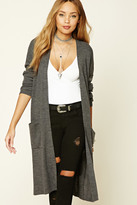 Forever 21 FOREVER 21+ Ribbed Knit Open-Front Cardigan