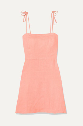 Honorine - Poppy Linen Mini Dress - Coral