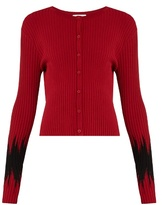 Tomas Maier Abomb cropped ribbed-knit cardigan