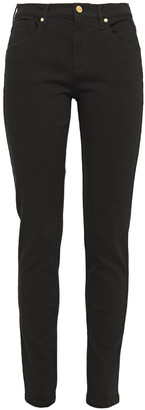 Roberto Cavalli Embroidered Mid-rise Skinny Jeans