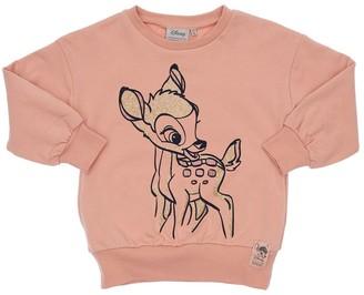 Wheat Flocked Bambi Cotton Sweatshirt