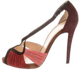 Christian Louboutin Pleated Suede Sandals