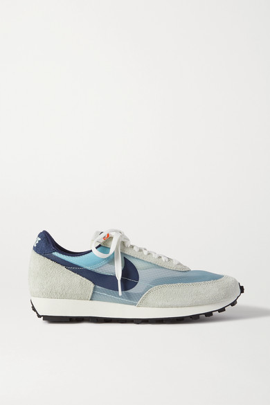 Nike Daybreak Sp Faux Suede And Ripstop Sneakers - Light blue