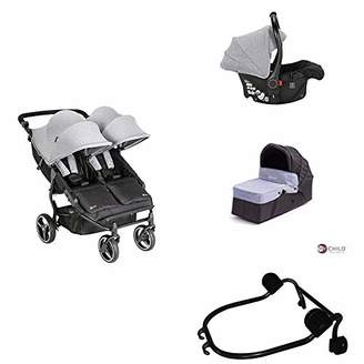 My Child Easy Twin Double Stroller + Car Seat + Car Seat Adapter Upper + Main Carrycot