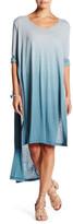 Blu Pepper Striped Hi-Lo Dress