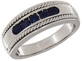 Lord & Taylor Sapphire and 14K White Gold Ring