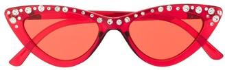 MonnaLisa Embellished Cat-Eye Sunglasses