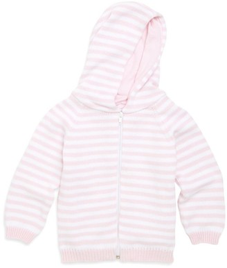 Kissy Kissy Baby Girl's Rugby Stripe Knit Hooded Cotton Jacket