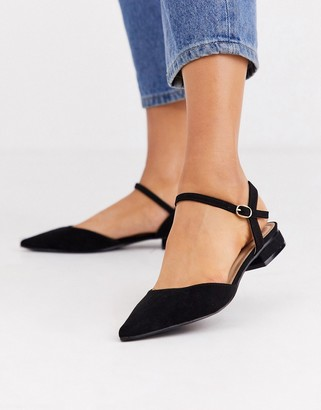 Myla Raid RAID black ankle strap flat shoes