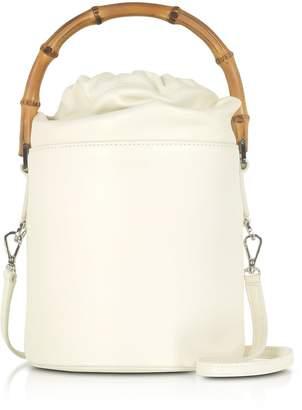 Jil Sander Soft Leather Small Bucket Bag W/bamboo Handle