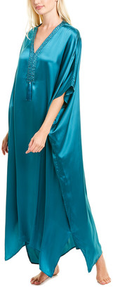 Josie Natori Key Essentials Silk Caftan