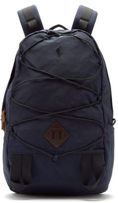 Polo Ralph Lauren Mountain Leather Trimmed Backpack - Mens - Navy