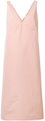Plan C sleeveless A-line dress