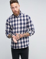 Penfield Pearson Check Button Shirt In Regular Fit Brushed Cotton