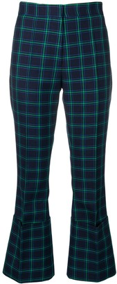Rokh checked tailored turn-up trousers