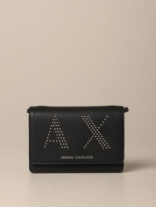 Armani Collezioni Armani Exchange Mini Bag Armani Exchange Bag In Synthetic Leather With Ax Logo Of Studs