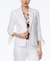 Nine West Single-Button Tie-Cuff Blazer