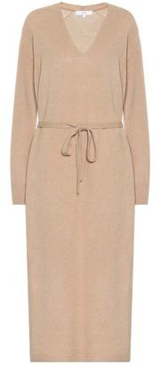 Vince Belted wool-blend dress