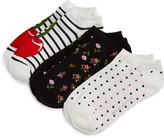 Kate Spade No-Show Socks, Set of 3