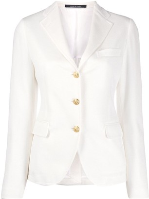 Tagliatore embossed-button fitted jacket