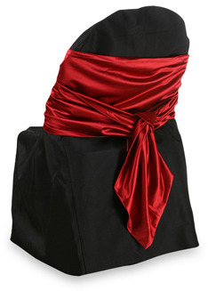 Bed Bath & Beyond Luxury Essentials Faux Satin Pointed End Sash (Set of 6) - Red