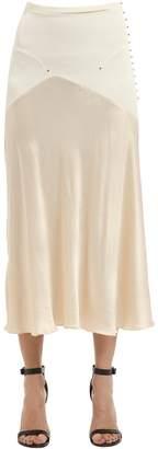 Esteban Cortazar Thick Jersey & Satin Skirt