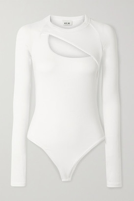 Alix Summit Cutout Ribbed Stretch-modal Jersey Bodysuit - White