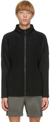 Homme Plissé Issey Miyake Black Basics Zip-Up Jacket