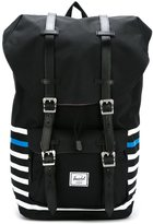 Herschel double strap striped backpack