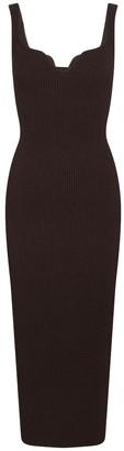 KHAITE Exclusive to Mytheresa Nina ribbed-knit midi dress