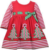 Bonnie Jean Long Sleeve Skater Dress - Toddler Girls