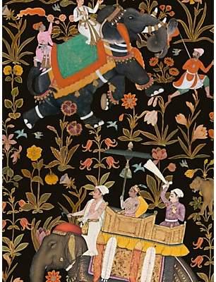 MINDTHEGAP Hindustan Wallpaper Set, Anthracite WP20256