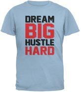 Old Glory Dream Big Hustle Hard Light Blue Adult T-Shirt