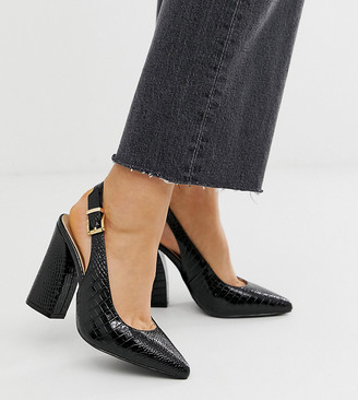 Raid Wide Fit Lauryn black heeled shoes