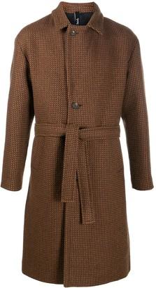 Hevo Ostuni belted single-breasted coat