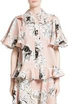 Roksanda Women's Rosler Silk Georgette Top