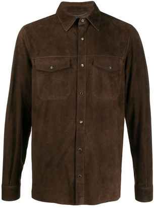 Ajmone Suede Leather Shirt